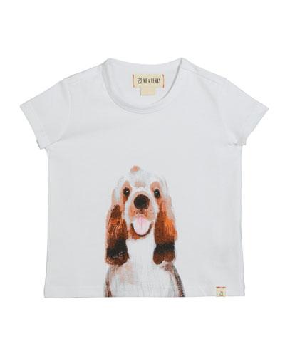 Boy's Dog Graphic T-Shirt w/ Children's Book  Size 0-6