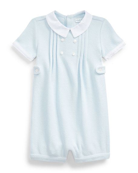 Image 1 of 1: Textured Knit Pique Shortall, Size 3-18 Months