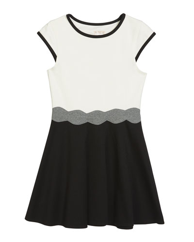 Girl's The Shelby Ponte Colorblock Dress  Size S-XL