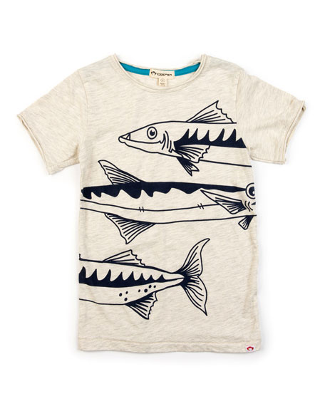 Image 1 of 1: Boy's Barracuda Graphic Short-Sleeve Tee, Size 2-14