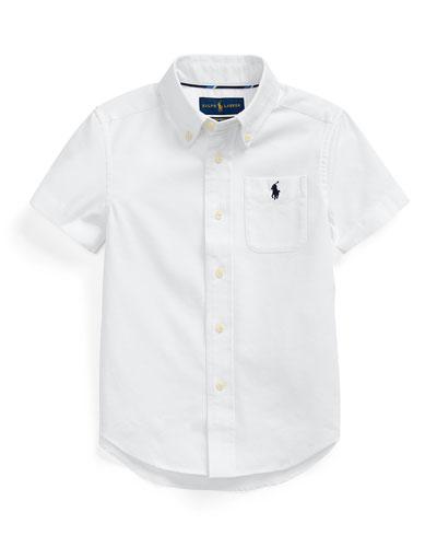 Boy's Stretch Oxford Button-Down Shirt, Size 2-4