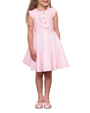 Girl/'s Design History Striped Flower Sleeveless Dress Multi Color Size 2T $48