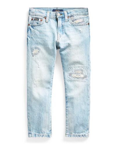 Boy's Sullivan Distressed Slim Denim Jeans, Size 5-7