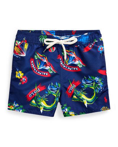 Boy's Captiva Printed Swim Trunks  Size 9-24 Months
