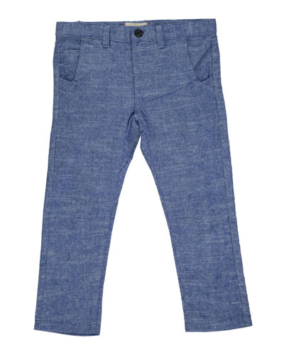 Boy's Twill Trousers w/ Children's Book  Size 3T-10