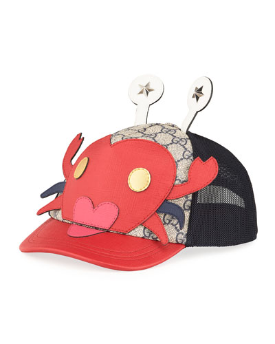 Kid's Embroidered Crab Baseball Hat
