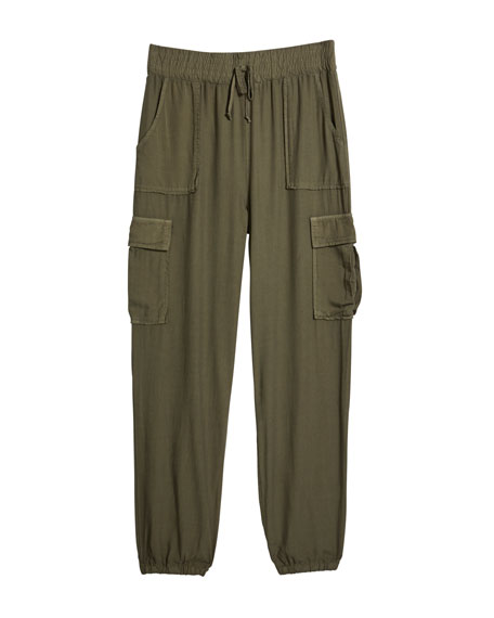 Image 1 of 1: Girl's Cargo Jogger Pants, Size S-XL