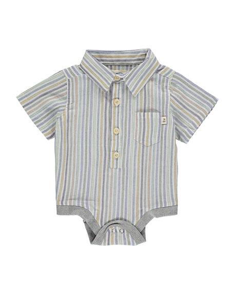 Boy's Multi Stripe Bodysuit w/ Children's Book, Size 0-24 Months