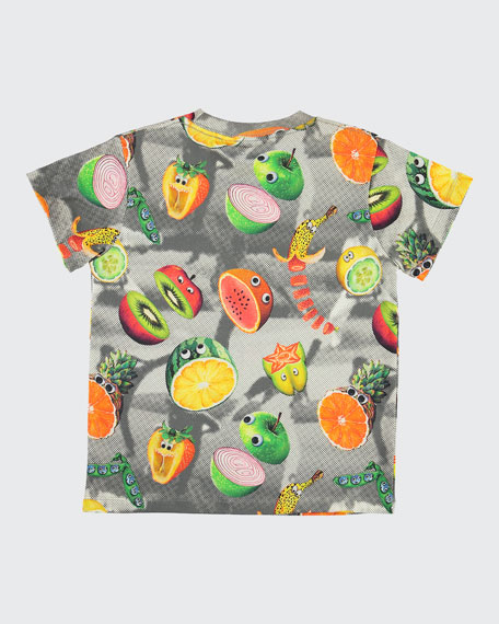 Raymont Multicolored Fruit-Print T-Shirt, Size 4-10