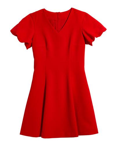 Amelia Cady Puff Sleeve Dress  Size 7-18