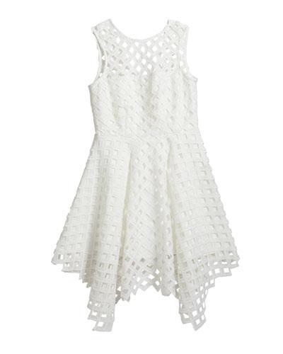 Girl's Annemarie Lattice Dress  Size 7-16