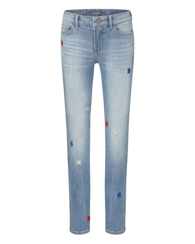 Girl's Chloe Skinny Jeans with Stars  Size 7-16