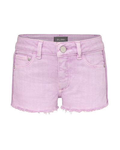 Girl's Lucy Cut Off Colored Denim Shorts  Size 2-6