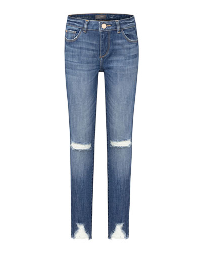 Girl's Chloe Distressed Skinny Jeans  Size 7-16