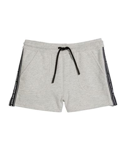 Girl's Nala Tape Trim Fleece Jogging Shorts  Size 3-14
