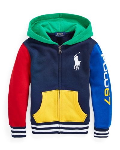 Boy's Yummy Colorblock Fleece Zip-Up Hoodie  Size 5-7