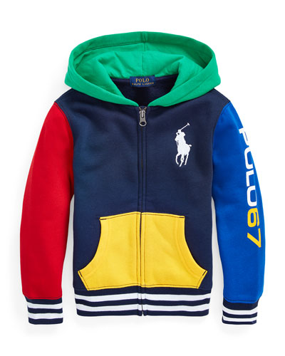 Boy's Yummy Colorblock Fleece Zip-Up Hoodie  Size 2-4