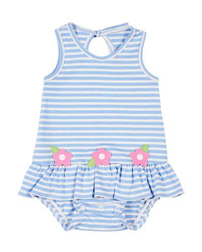 Flower Stripe Bubble Dress  Girls' 3-18 Months