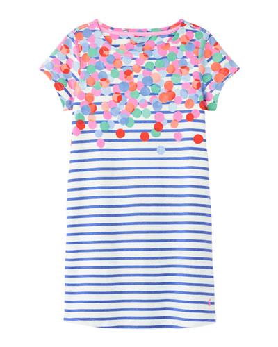 Girl's Riviera Spotted Stripe Dress  Size 4-10