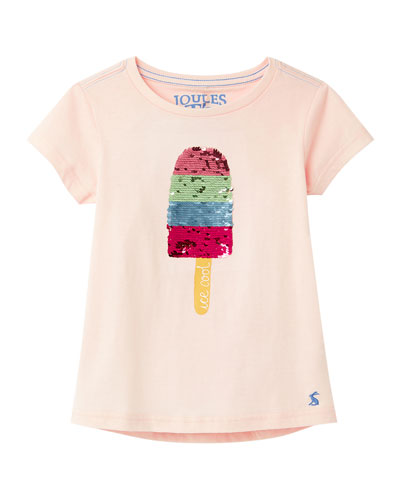 Girl's Astra Sequin Popsicle Tee  Size 3-10