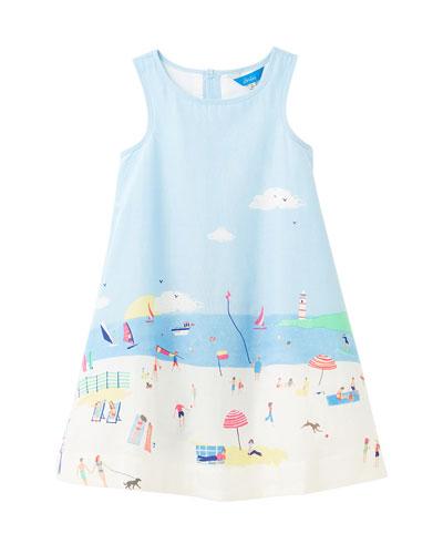 Girl's Bunty Beach Border Dress  Size 3-6