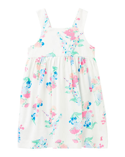 Girl's Bethany Floral-Print Sleeveless Dress  Size 2-6