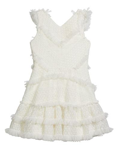 Girl's Blaire Ruffled Mesh Dress  Size 7-16
