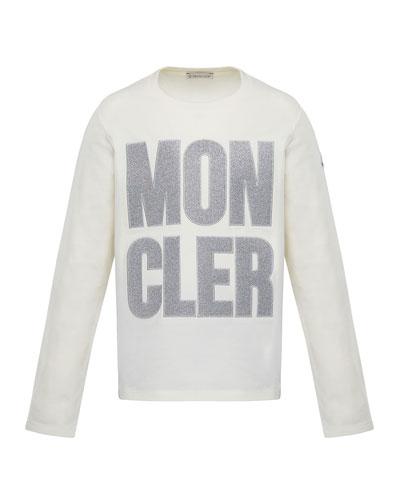 Glitter Logo Long-Sleeve T-Shirt  Size 8-14