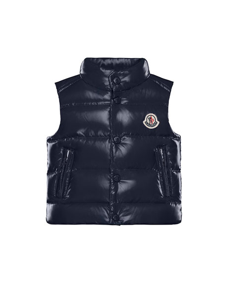Image 1 of 1: Bernard Shiny Quilted Puffer Vest, Size 12M-3