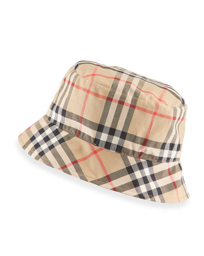 Vintage Check Bucket Baby Hat  Size 1-18 Months