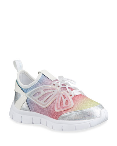 Girl's Fly By Ombre Pastel Glitter Sneakers, Baby/Toddler/Kids