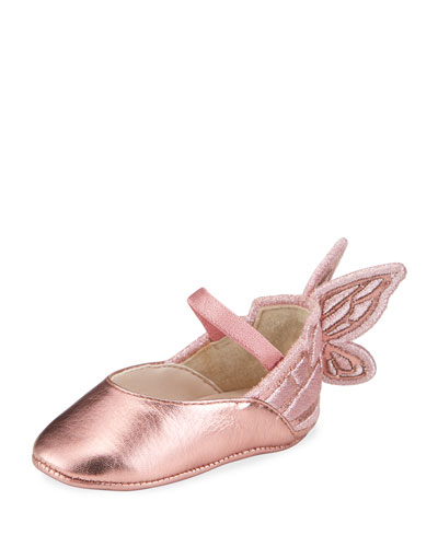 Girl's Chiara Tonal Butterfly Flats, Baby Sizes 0-12
