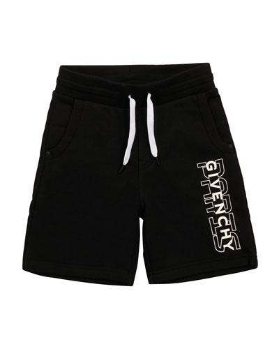 Boy's Drawstring Printed Logo Shorts, Size 12-14