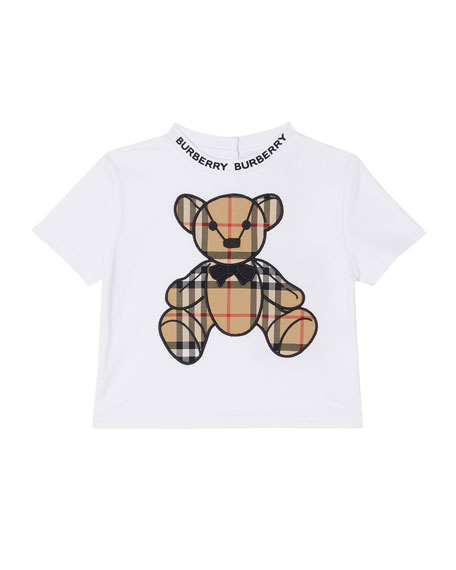 Image 1 of 1: Kid's Danny Vintage Check Bear Shirt, Size 6M-2