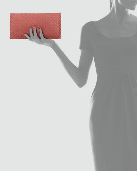 Full-Flap Turnlock Clutch Bag, Rose