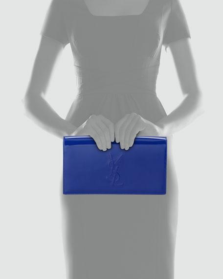 Belle de Jour Patent Clutch Bag, Blue