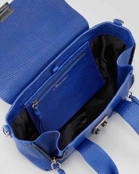 Pashli Mini Pebbled Leather Tote Bag, Blue