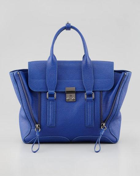 Pashli Medium Satchel Bag, Cobalt