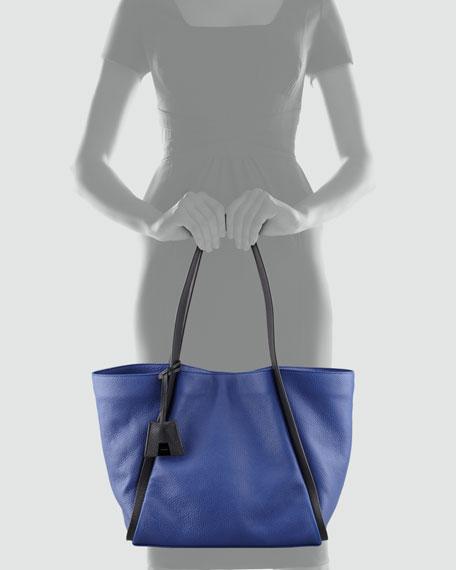 Alex Bicolor Medium Tote Bag, Blue