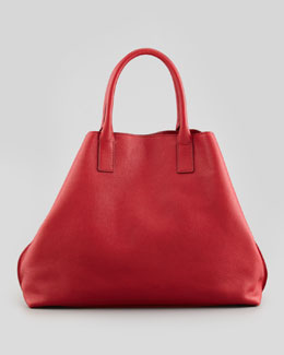 Akris Ai Cervo Medium Shopper Tote Bag, Lipstick