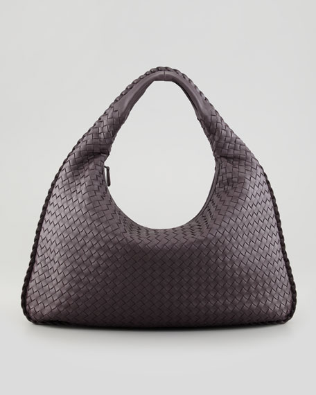 Veneta Large Hobo Bag, Plum Gray
