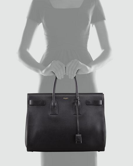Large Sac De Jour Suede Tote Bag, Black