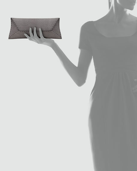 Manila Stretch Sparkle Clutch Bag, Gray