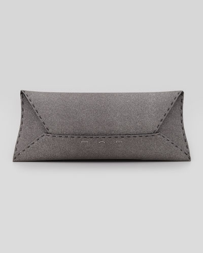 Manila Stretch Sparkle Clutch Bag, Gray