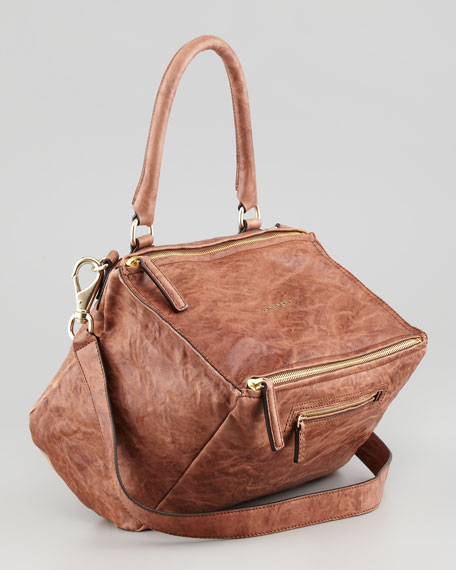 Pandora Medium Old Pepe Satchel Bag, Light Brown