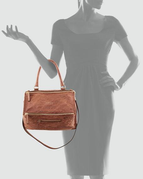 Pandora Medium Old Pepe Satchel Bag, Light Brown
