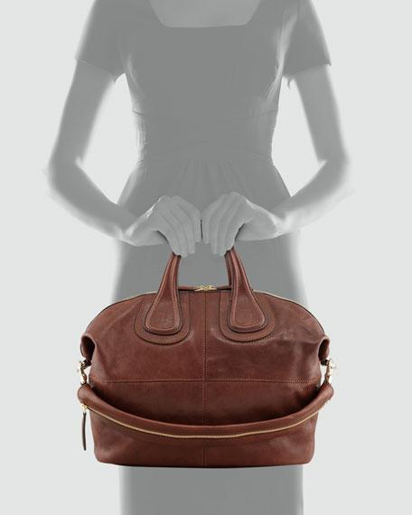Nightingale Zanzi Medium Satchel Bag, Light Brown