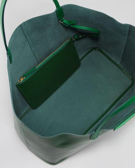Antigona Large Box Shopper Tote Bag, Emerald