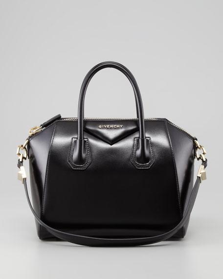 Antigona Small Box Satchel Bag, Black