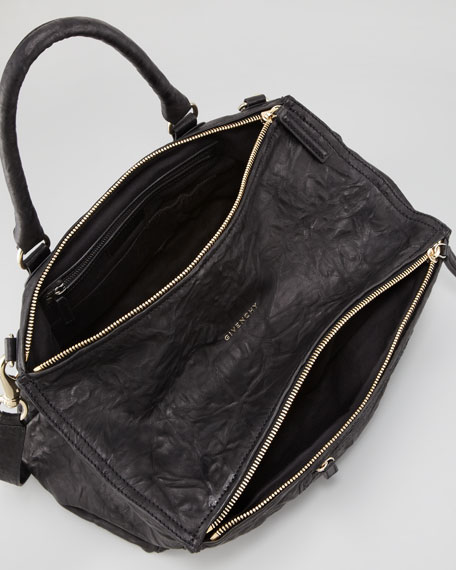 Pandora Pepe Large Satchel Bag, Black